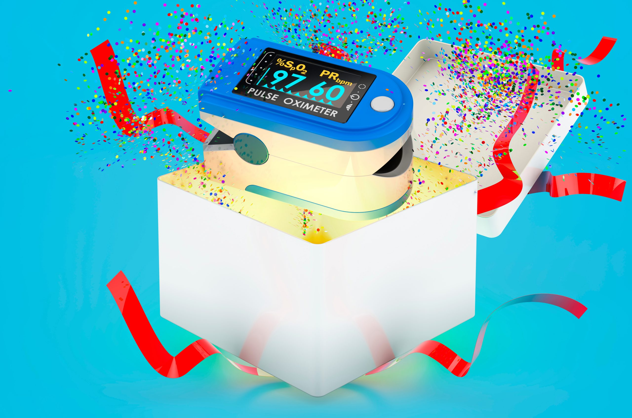 pulse oximeter in gift box