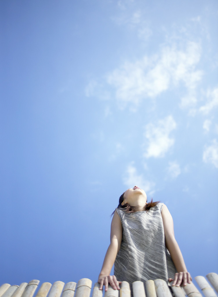 Girl Looking at the Sky