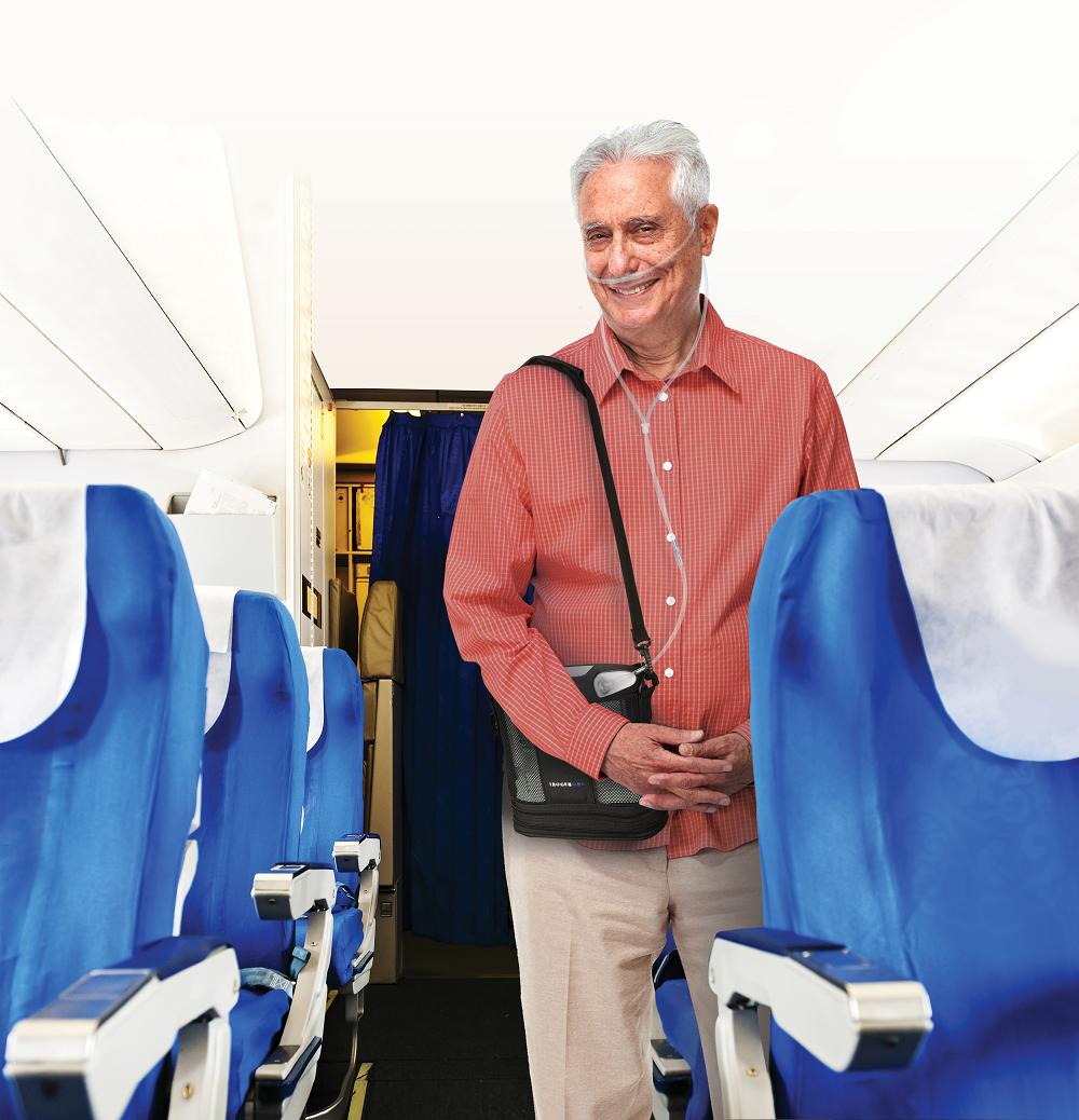 traveling by air with portable oxygen concentrator